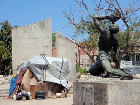 La estatua del Cimarrón Desconocido